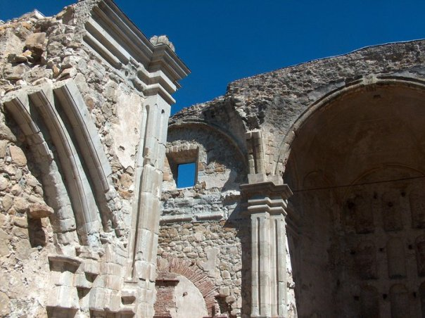 The ruins of the original Mission, destroyed in an earthquake.  It reminds me of something from Greece or Italy.  Very beautiful.