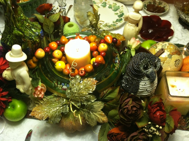 Part of this year's tablescape.